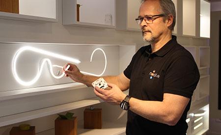 Un corner LED résolument branché